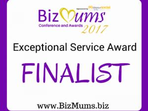 BizMums Exceptional Service Finalist