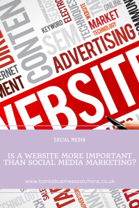 Is a website more important than social media marketing?