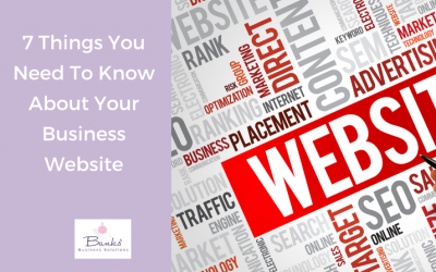 7 Things You Need To Know About Your Business Website