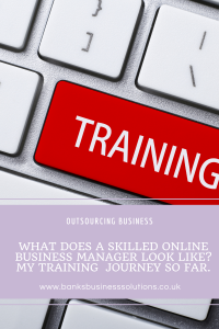 The training involved to be an online business manager